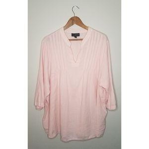 Lane Bryant Flowy Light Pink Blouse size 22/24